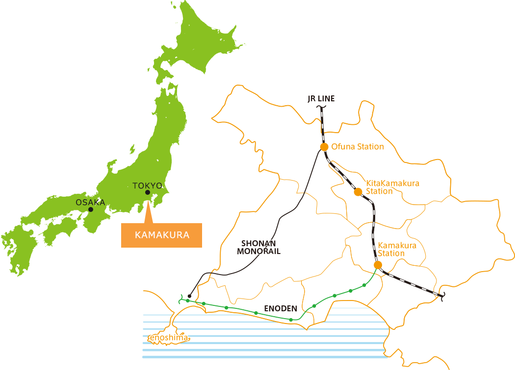Map of Kamakura