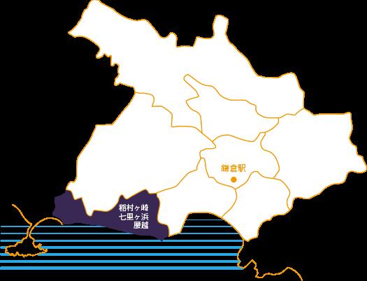 稲村ヶ崎・七里ヶ浜・腰越の地図