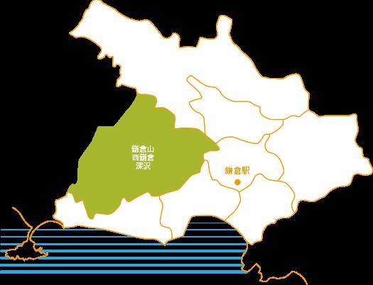 鎌倉山・西鎌倉・深沢の地図
